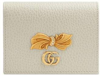 Gucci Leather card case wallet with bow