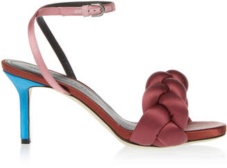 Marco De Vincenzo Satin Multi Braid Sandal