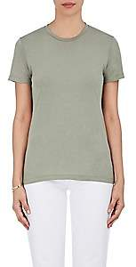Barneys New York Women's Pima Cotton Crewneck T-Shirt - Army