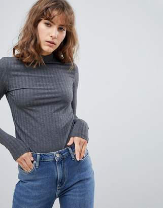Pieces Camy Turtleneck Long Sleeved Knit Top