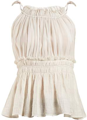 Altuzarra Allen gathered sleeveless top