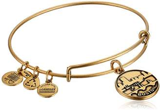 "Alex and Ani Places We Love"" Rafaelian Gold-Tone Boston II Expandable Wire Bangle Bracelet"