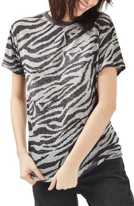 Women's Topshop Acid Wash Zebra Tee $38 thestylecure.com