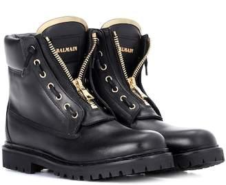 Balmain Taiga leather boots