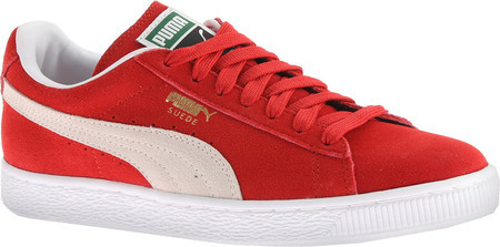 puma red suede women