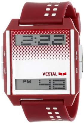 Vestal Unisex DIG027 Digichord Burgundy White Watch