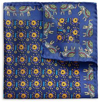 Eton Circle Elephant Pocket Square
