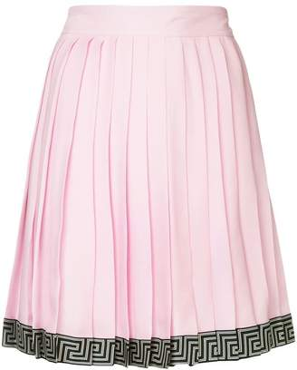 Versace pleated short skirt