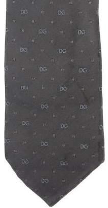 Dolce & Gabbana Embroidered Silk Tie