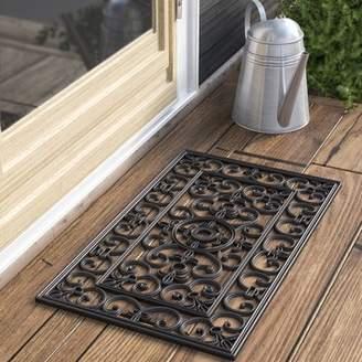 Andover Mills Calles Scroll Floral Doormat