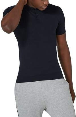 Topman Marled Knit Polo