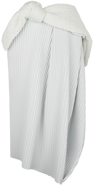 J.W.Anderson White Pleather Accordion Tulip Skirt With Belt
