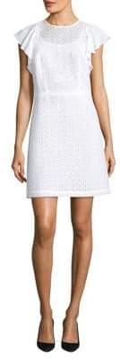 MICHAEL Michael Kors Ruffle-Sleeve Shift Dress