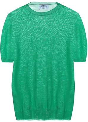 Prada Worsted virgin wool T-shirt