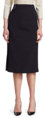 Akris Wool Double Face Wrap Skirt