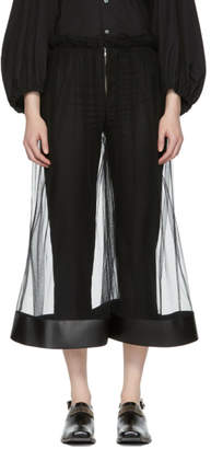 Noir Kei Ninomiya Black Tulle Wide Trousers