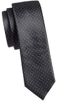 The Tie Bar Dotted Silk Slim Tie
