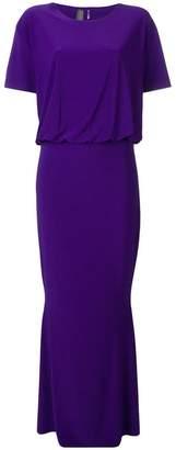 Norma Kamali short-sleeved long dress