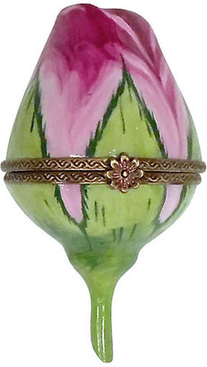 One Kings Lane Vintage Limoges Porcelain Rosebud Rochard Box - Vermilion Designs