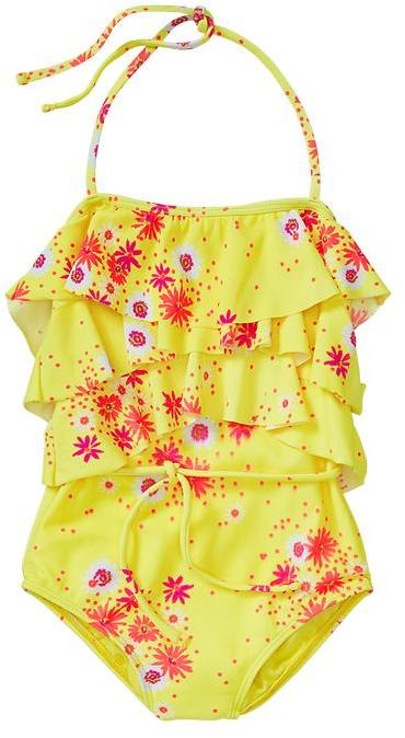 Gap Ruffled floral one-piece