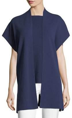 Michael Kors Open-Front Ribbed Cashmere-Blend Vest