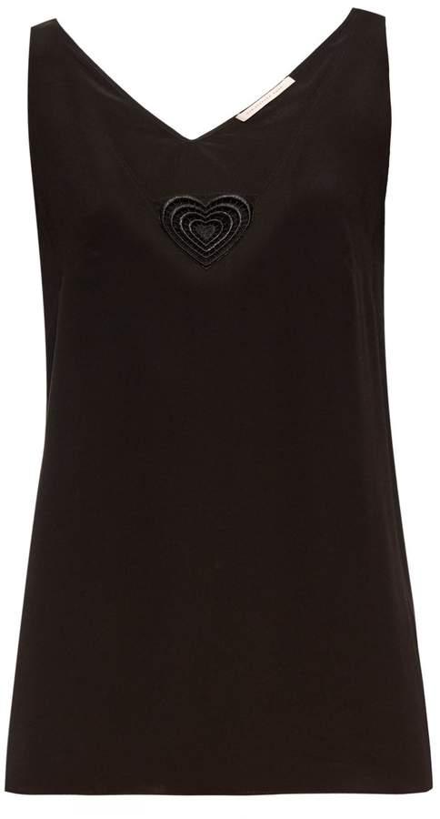 Christopher KaneCHRISTOPHER KANE Love Heart-motif silk-blend top
