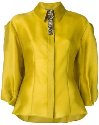 Alberta Ferretti crystal detail blouse