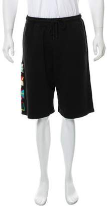 Marcelo Burlon County of Milan Flags Jogger Shorts w/ Tags