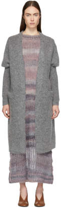 Acne Studios Grey Mohair Long Raya Cardigan