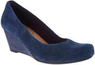f12485009b5 Clarks Leather or Suede Wedge Pumps - Flores Tulip