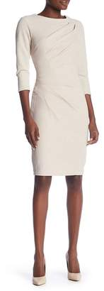 Marina Front Ruched 3/4 Sleeve Dress