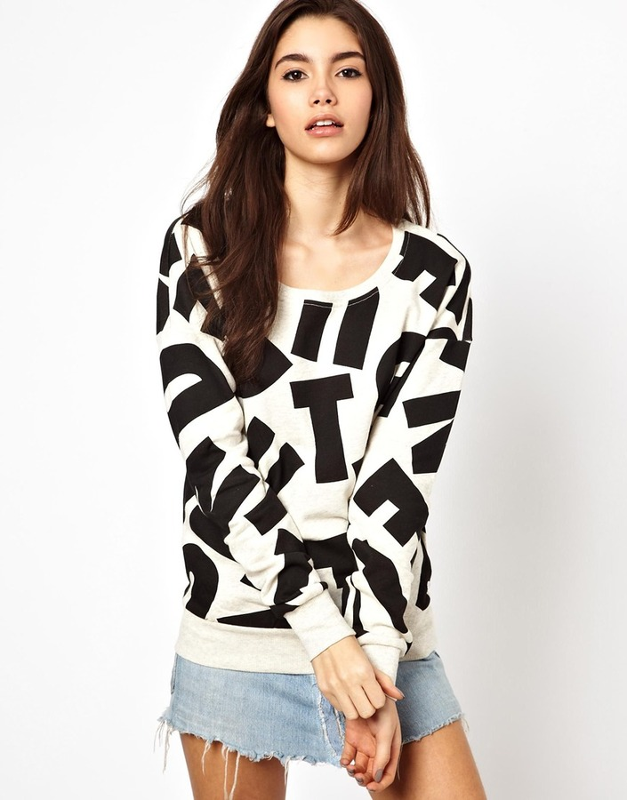 Only Type Print Sweat Top