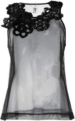 Comme des Garcons floral embellished blouse