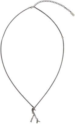 Saint Laurent Silver Y Branch Bracelet