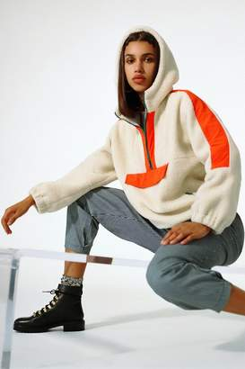 Urban Outfitters Kenzie Sherpa Fleece Popover Jacket