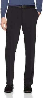 Savane Men's Flat Front Active Flex 4-Way Stretch Gab Dress Pant