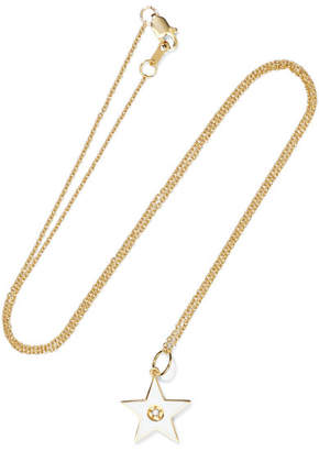 Andrea Fohrman 18-karat Gold, Diamond And Enamel Necklace