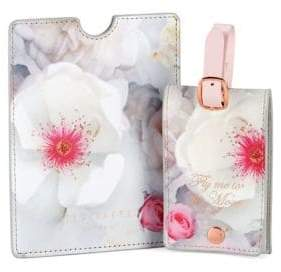 Ted Baker London Fly Me To The Moon Passport Holder and Luggage Tag Set