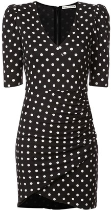 Alice + Olivia Alice+Olivia polka dot ruched short dress