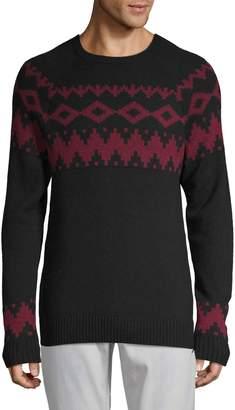 Saks Fifth Avenue Fair Isle Raglan-Sleeve Sweater