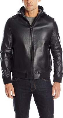 Ungaro Emanuel by Men's Bonded Leather Hoodie