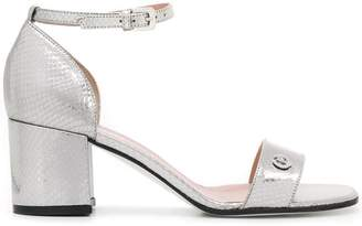 Pollini laminated leather sandals