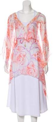 Versace Silk Floral Print Tunic