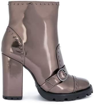 Schutz studded shiny boots