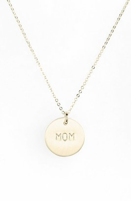 Women's Nashelle Sterling Silver Mom Charm Necklace $85 thestylecure.com