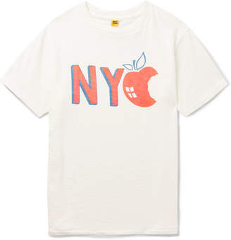 Velva Sheen Printed Slub Cotton-Jersey T-Shirt