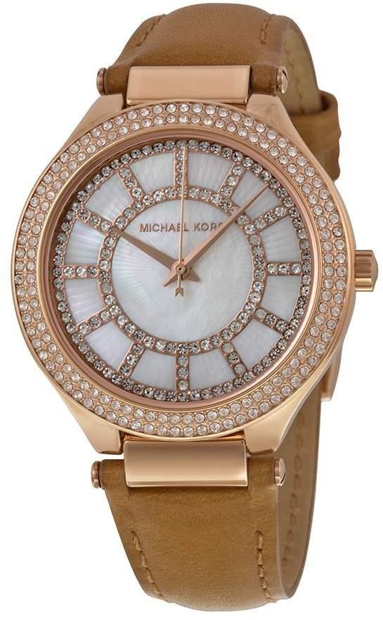Michael Kors Women's Kerry MK2421 Leather Quartz Watch