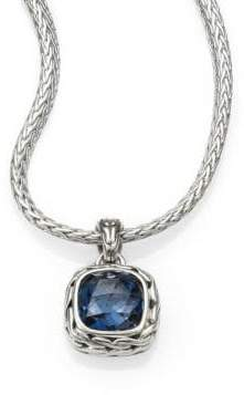John Hardy Classic Chain Sterling Silver Small Square Pendant Necklace