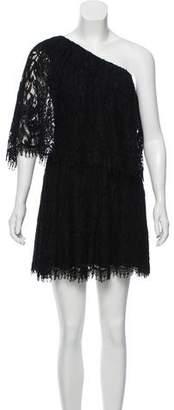 Alexis Lace One-Shoulder Mini Dress