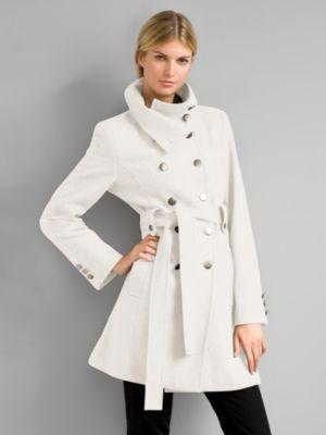New York & Co. City Style Wool Captain's Coat